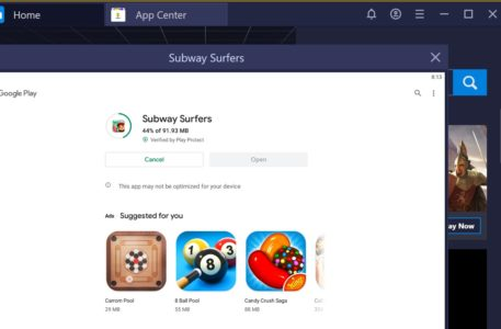 Subway surfers game on bluestacks