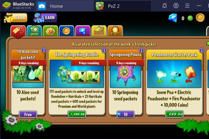 Plants vs Zombie 2 game Downloaded on PC