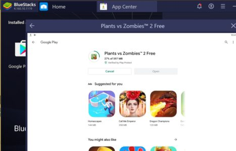 installing plants vs zombies 2 free on PC