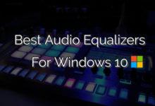 audio Equalizers windows 10