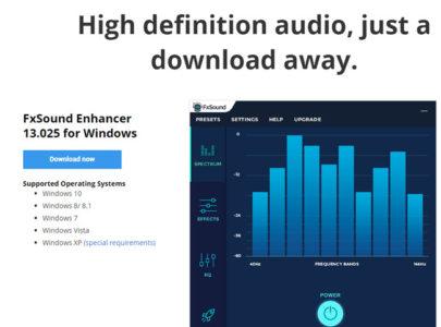 fxsound audio equaliser