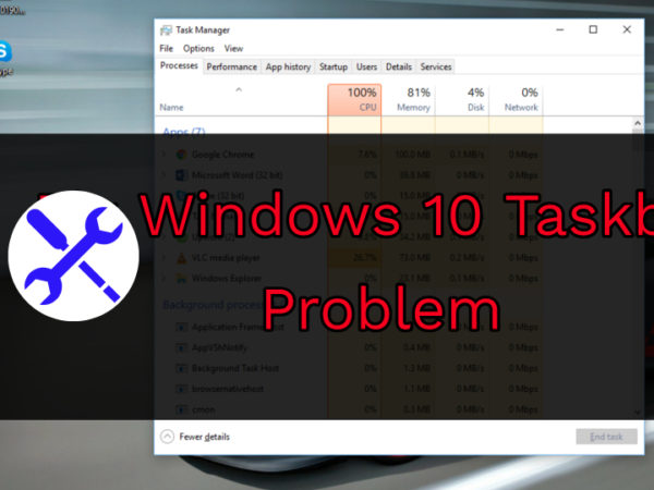 how to fix taskbar search problems in windows 10