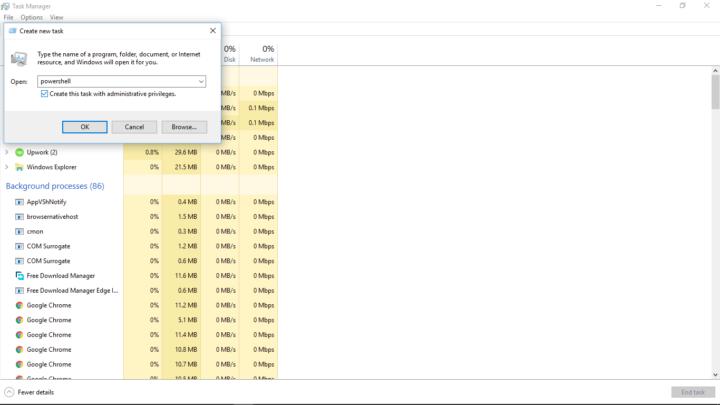 Powershell in Windows 10