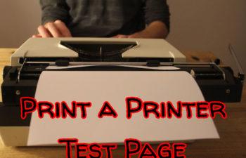 Print a Printer Test Page